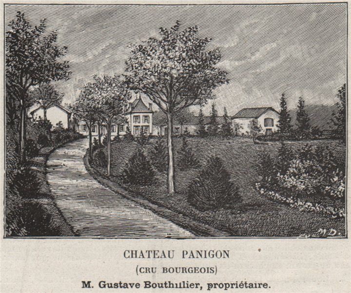Associate Product MÉDOC. CIVRAC. Chateau Panigon (Cru Bourgeois). Bouthillier. SMALL 1908 print