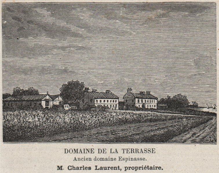 Associate Product MÉDOC ILES DE LA GIRONDE Domaine de la Terrasse/Espinasse SMALL 1908 old print