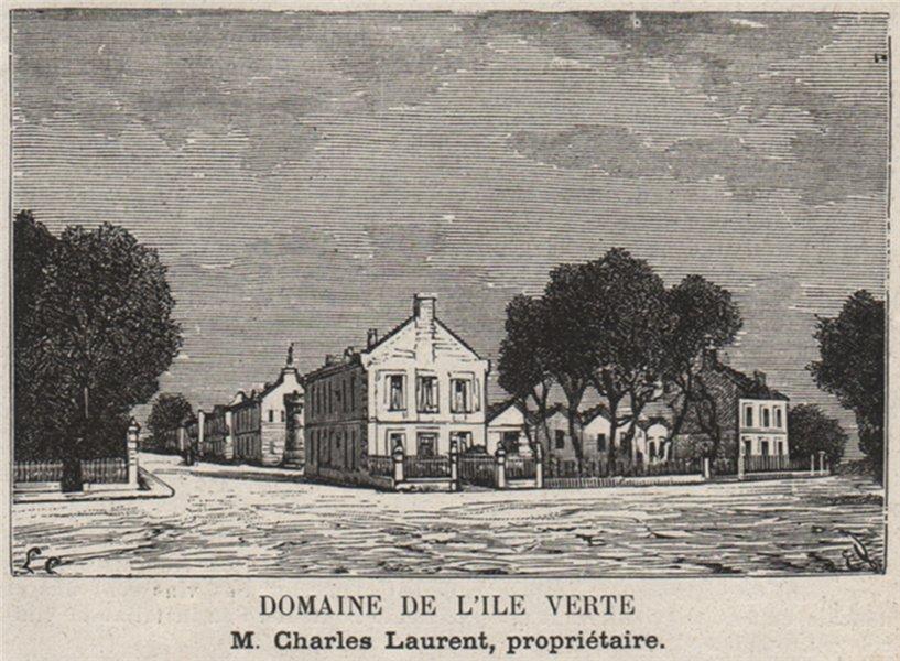 Associate Product MÉDOC. ILES DE LA GIRONDE. Domaine de l'ile Verte. Laurent. SMALL 1908 print