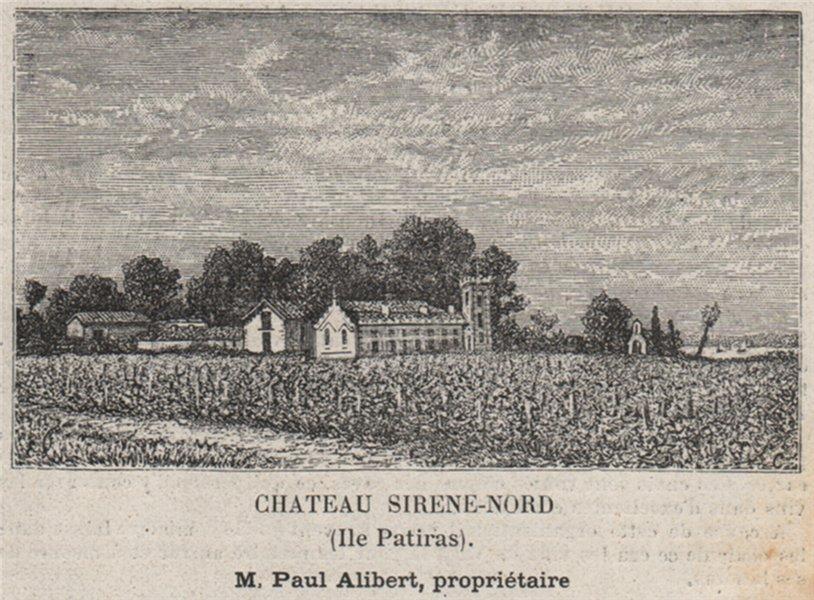 Associate Product MÉDOC. ILES DE LA GIRONDE. Chateau Sirene-Nord (Ile Patiras). SMALL 1908 print