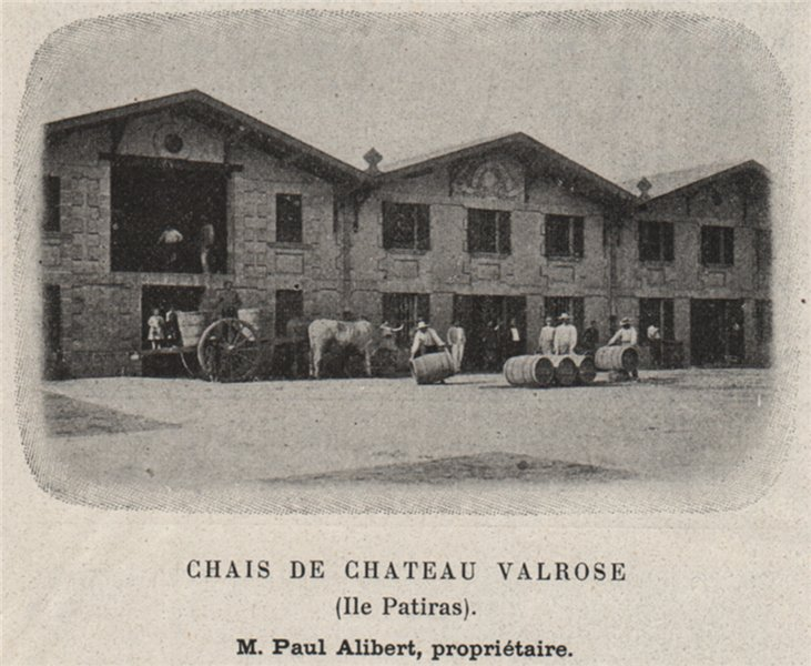 Associate Product MÉDOC. ILES DE LA GIRONDE. Chais de Chateau Valrose (Ile Patiras). SMALL 1908