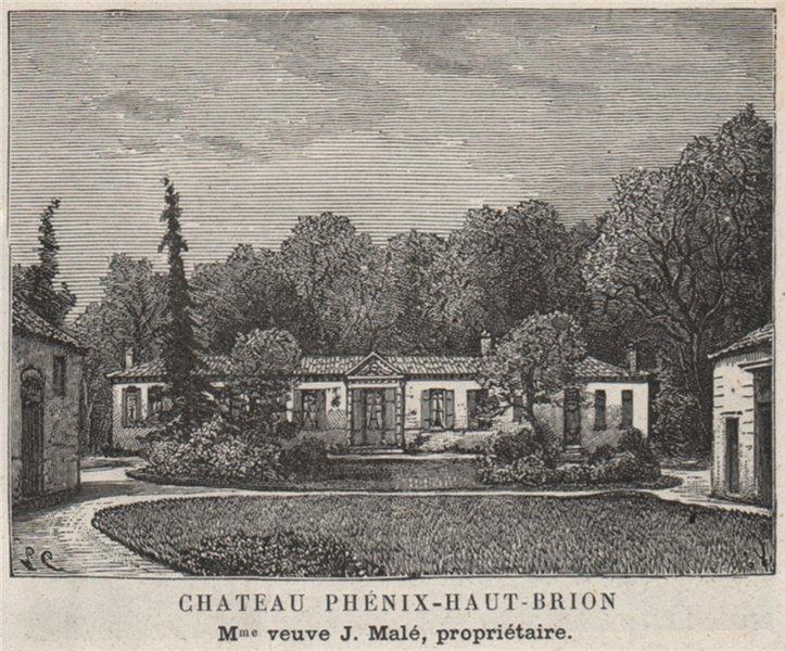 Associate Product GRAVES. PESSAC. Chateau Phénix-Haut-Brion. Malé. Bordeaux. SMALL 1908 print