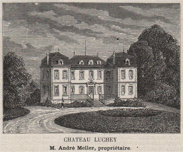Associate Product GRAVES. MÉRIGNAC. Chateau Luchey. Meller. Bordeaux. SMALL 1908 old print