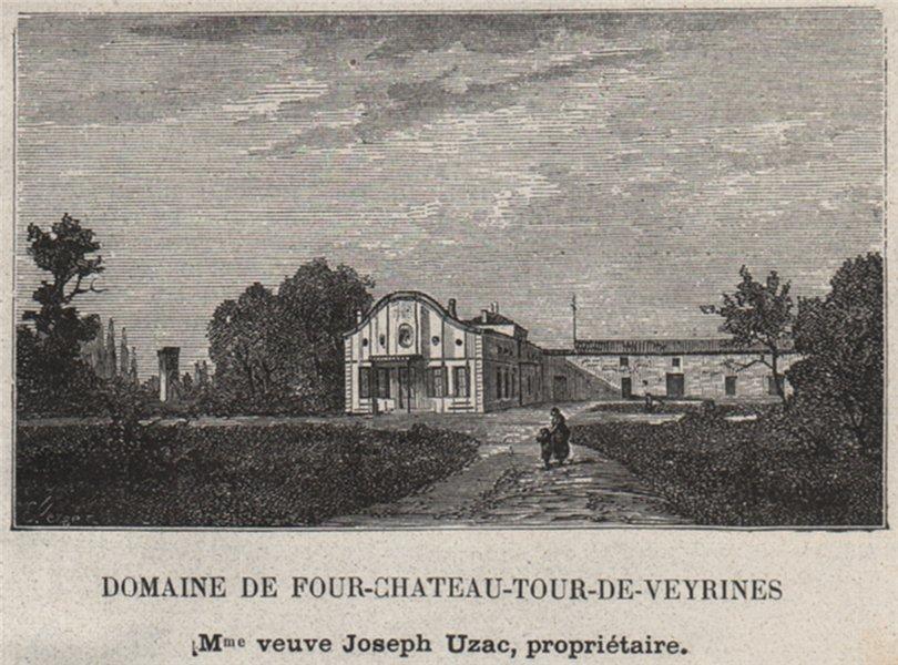 Associate Product GRAVES. MÉRIGNAC. Domaine de Four-Chateau-Tour-de-Veyrines. Uzac. SMALL 1908