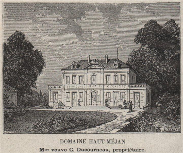 Associate Product GRAVES. MÉRIGNAC. Domaine Haut-Méjan. Ducourneau. Bordeaux. SMALL 1908 print