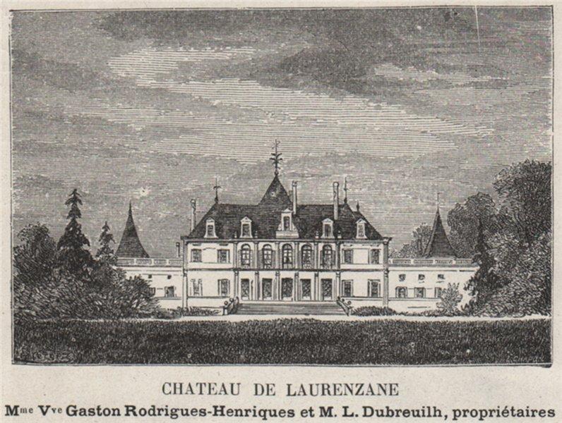Associate Product GRAVES. GRADIGNAN. Chateau de Laurenzane. Dubreuilhs. Bordeaux. SMALL 1908