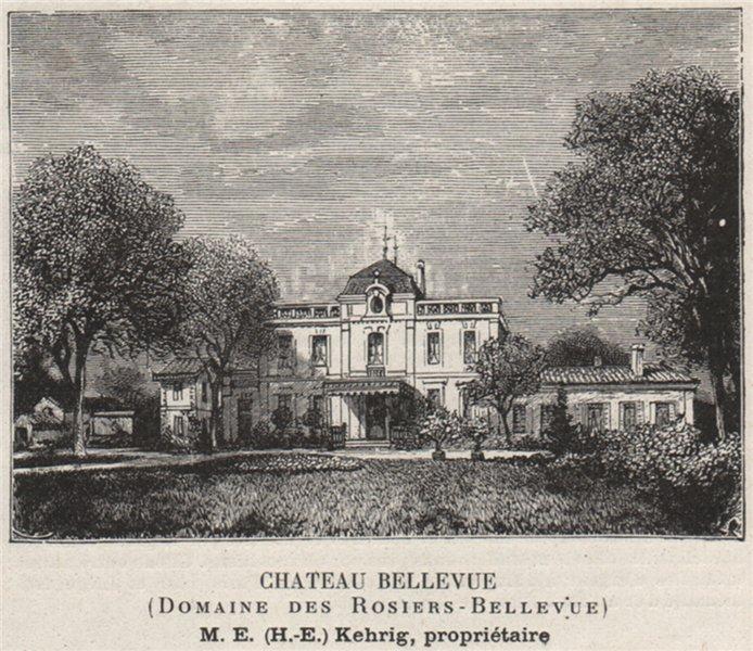 Associate Product GRAVES. GRADIGNAN. Chateau Bellevue (Domaine des Rosiers-Bellevue). SMALL 1908