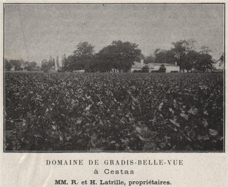 Associate Product GRAVES. CESTAS. Domaine de Gradis-Belle-Vue à Castas. Latrilles. SMALL 1908