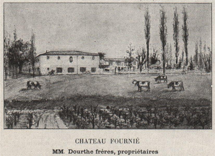 Associate Product GRAVES. SAINT-MORILLON. Chateau Fournié. Dourthe. Bordeaux. SMALL 1908 print