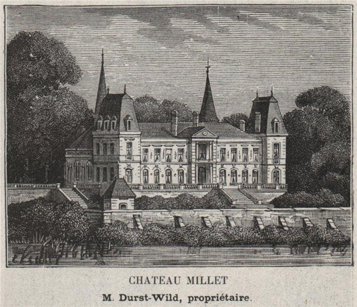 GRAVES. PORTETS. Chateau Millet. Durst-Wild. Bordeaux. SMALL 1908 old print