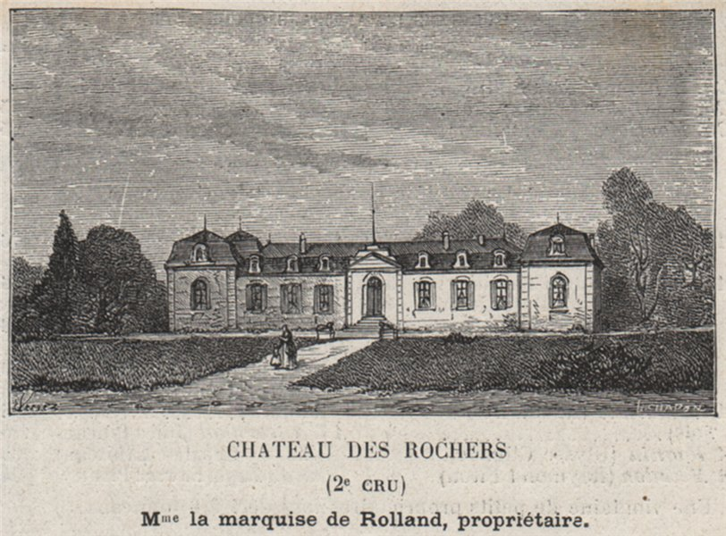 Associate Product GRANDS VINS BLANCS. PREIGNAC. Chateau des Rochers (2e Cru). Rolland. SMALL 1908