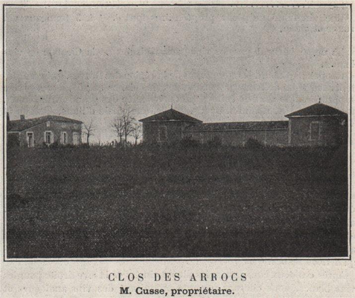 Associate Product GRANDS VINS BLANCS. SAINT-PIERRE-DE-MONS. Clos des Arrocs. Cusse. SMALL 1908