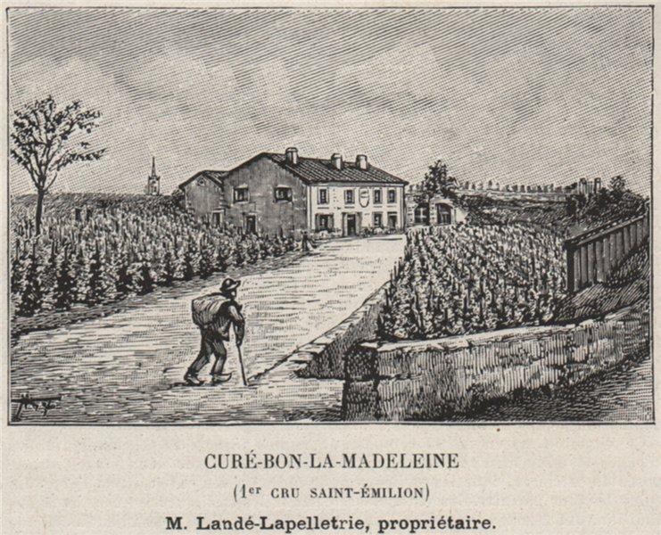 Associate Product SAINT-ÉMILIONNAIS. Crué-Bon-la-Madeleine (1er Cru Saint-Émilion). SMALL 1908