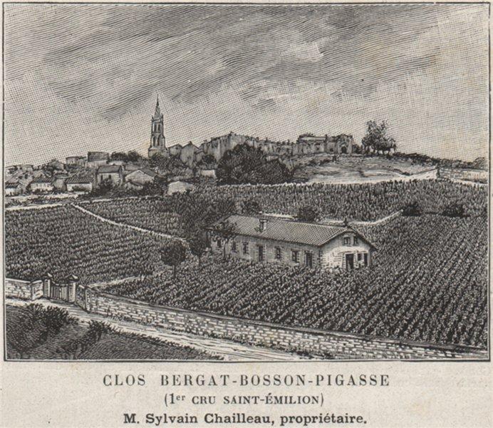 Associate Product Clos Bergat-Bosson-Pigasse (1er Cru Saint-Émilion). Chailleau. SMALL 1908