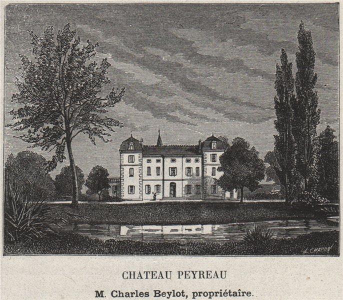 Associate Product SAINT-ÉMILIONNAIS. SAINT-ÉMILION. Chateau Peyreau. Beylot. Bordeaux. SMALL 1908