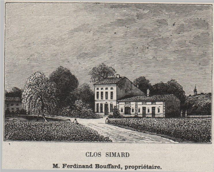 Associate Product SAINT-ÉMILIONNAIS. SAINT-ÉMILION. Clos Simard. Bouffard. Bordeaux. SMALL 1908
