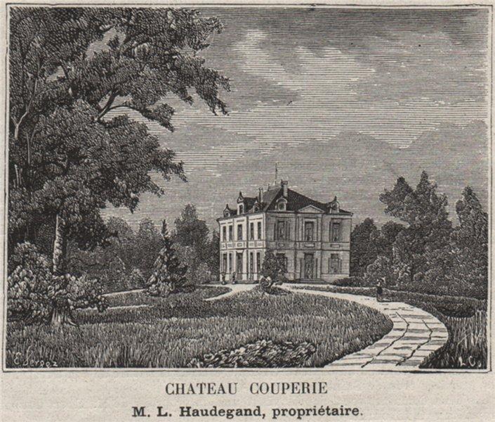 Associate Product SAINT-ÉMILIONNAIS. SAINT-ÉMILION. Chateau Couperie. Haudegand. SMALL 1908