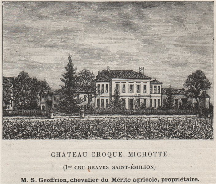 Associate Product Chateau Croque-Michotte (1er Cru Graves Saint-Émilion). Bordeaux. SMALL 1908