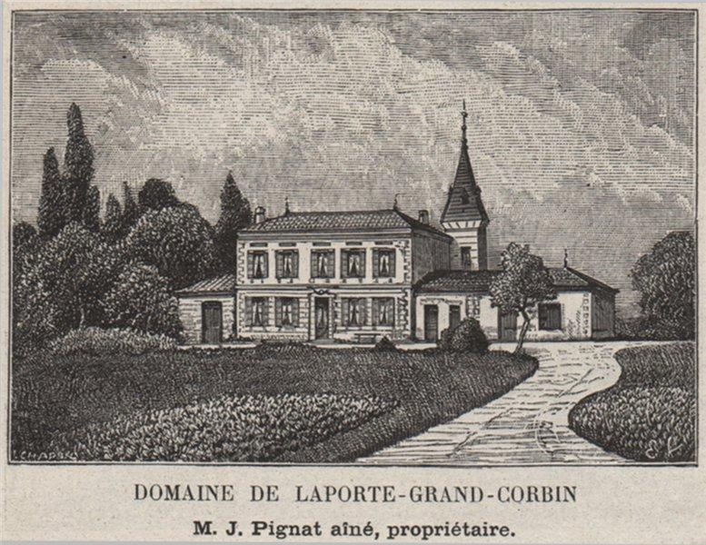 Associate Product SAINT-ÉMILIONNAIS. SAINT-ÉMILION. Domaine de Laporte-Grand-Corbin. SMALL 1908
