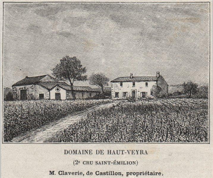 Associate Product SAINT-ÉTIENNE-DE-LISSE. Domaine de Haut-Verya (2e Cru Saint-Émilion). SMALL 1908