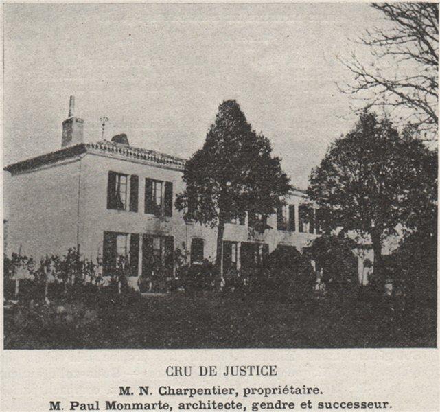 Associate Product SAINT-ÉMILIONNAIS. SAINT-ÉTIENNE-DE-LISSE. Cru de Justice. Monmarte. SMALL 1908