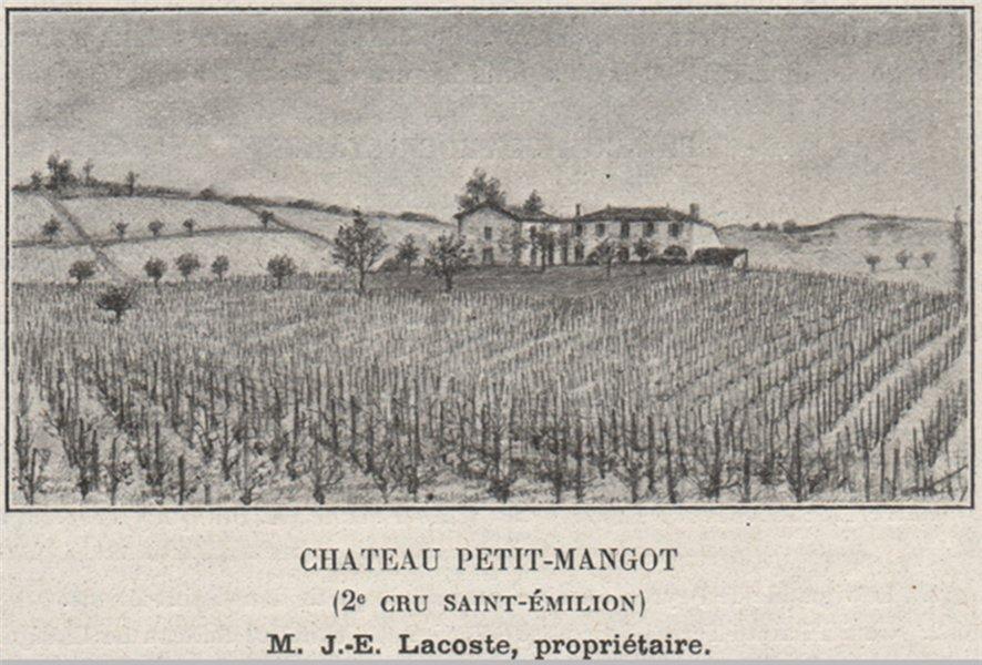 Associate Product SAINT-ÉTIENNE-DE-LISSE. Chateau Petit-Mangot (2e Cru Saint-Émilion). SMALL 1908