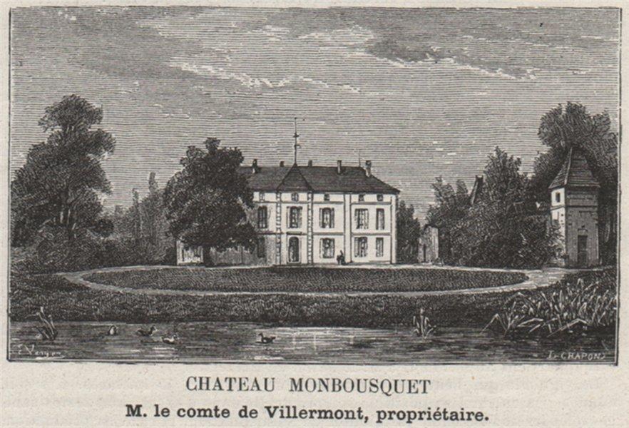 Associate Product ST-ÉMILION ST-SULPICE-DE-FALEYRENS Chateau Monbousquet SMALL 1908 old print