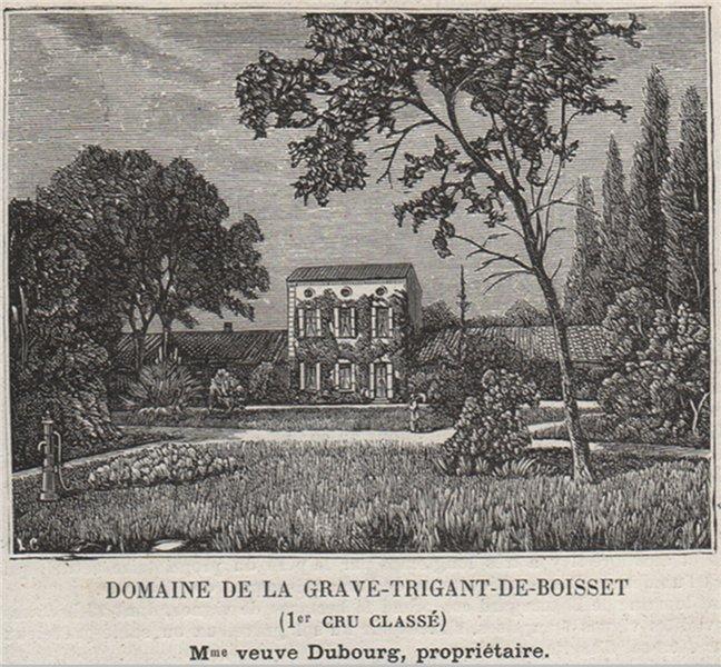 Associate Product Domaine de la Grave-Trigant-de-Boisset (1er Cru Classé). Dubourg. SMALL 1908