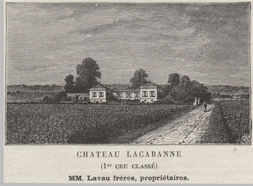 Associate Product SAINT-ÉMILIONNAIS. POMEROL. Chateau Lacabanne (1er Cru Classé). SMALL 1908