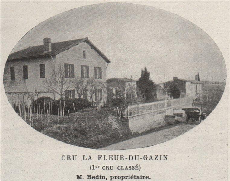Associate Product SAINT-ÉMILIONNAIS. POMEROL. Cru la Fleur-du-Gazin (1er Cru Classé). SMALL 1908