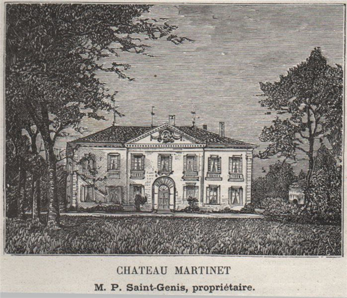 Associate Product SAINT-ÉMILIONNAIS. LIBOURNE. Chateau Martinet. Saint-Genis. SMALL 1908 print