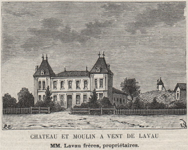 Associate Product SAINT-ÉMILIONNAIS. NÉAC. Chateau et Moulin a Vent de Lavau. Lavau. SMALL 1908