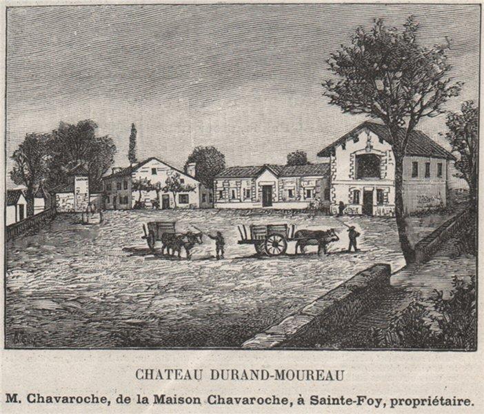 Associate Product SAINT-ÉMILIONNAIS. PUISSEGUIN. Chateau Durand-Moureau. Chavaroche. SMALL 1908