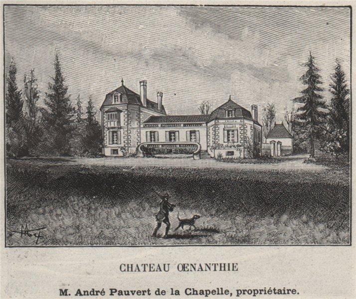 Associate Product CANTON DE SAINTE-FOY. SAINT-ANDRÉ-ET-APPELLES. Chateau Oenanthie. SMALL 1908