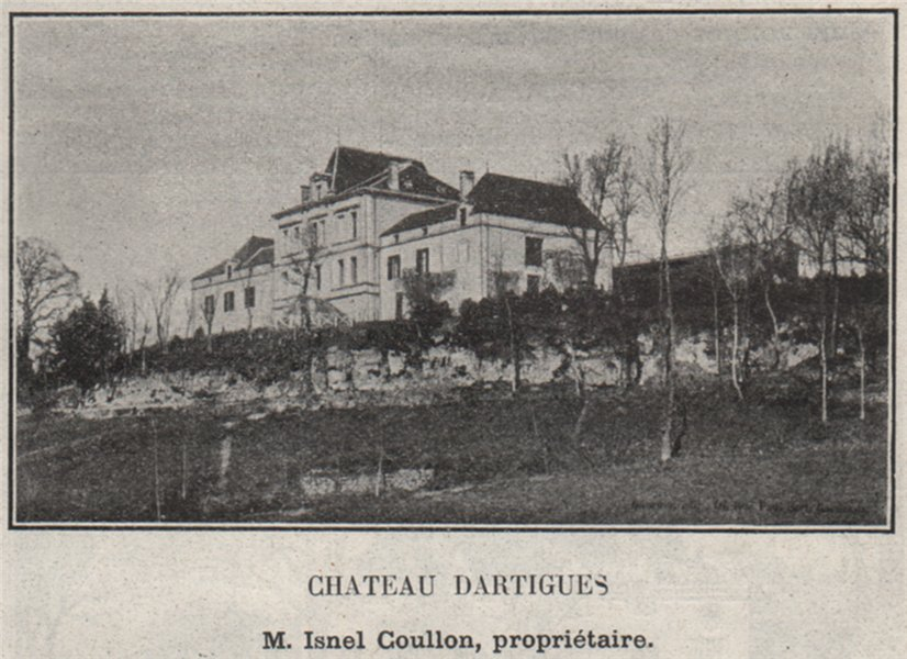 Associate Product CANTON DE PUJOLS. DOULEZON, PUJOLS. Chateau Dartigues. Coullon. SMALL 1908