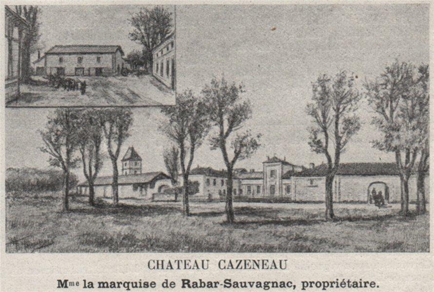 Associate Product CANTON DE BRANNE. ESPIET, CAMIAC. Chateau Cazeneau. Rabar-Sauvagnac. SMALL 1908