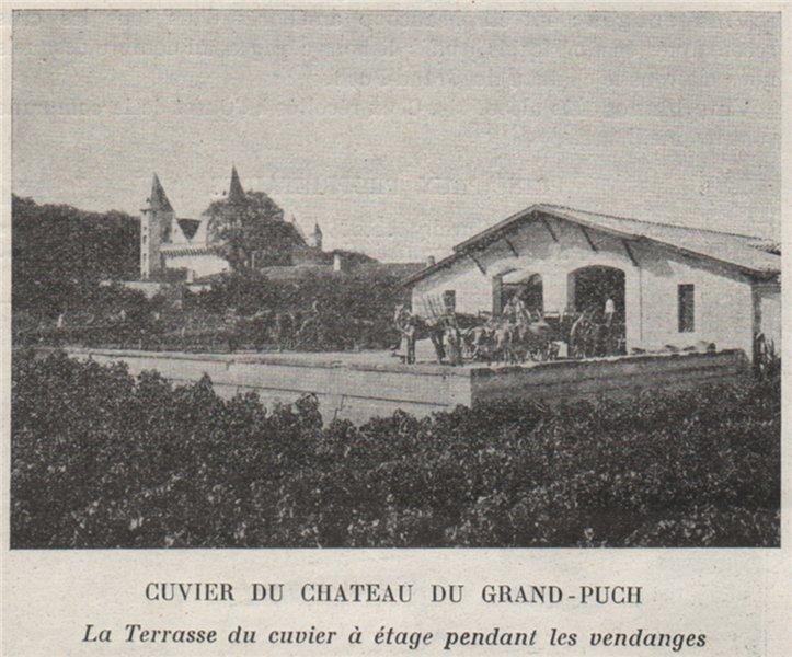 Associate Product BRANNE. SAINT-GERMAIN-DU-PUCH. Cuvier du Chateau du Grand-Puch. SMALL 1908