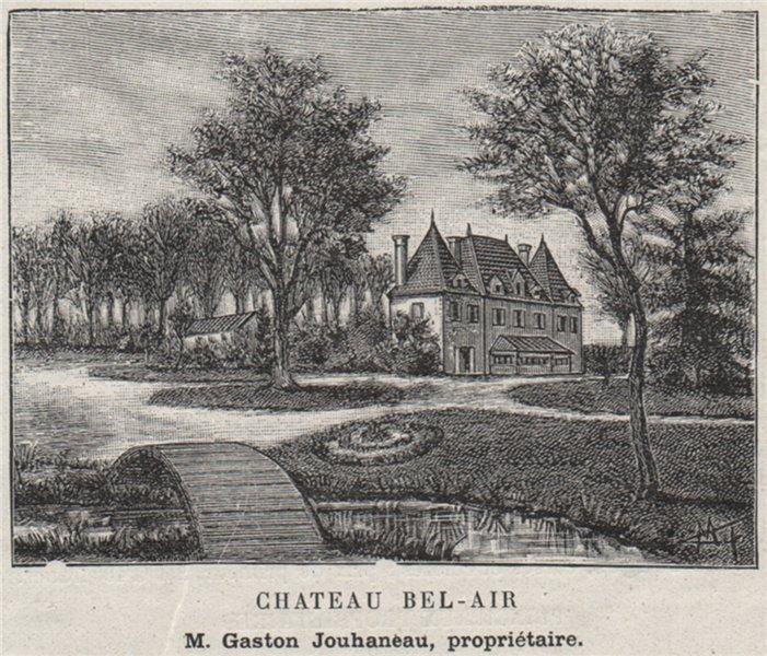 CANTON DE BRANNE. VAYRES. Chateau Bel-Air. Jouhaneau. Bordeaux. SMALL 1908