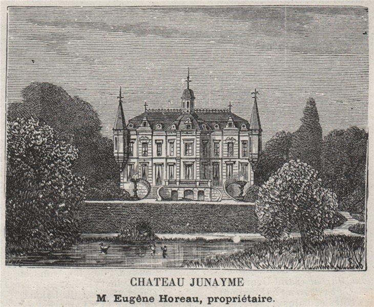 Associate Product FRONSADAIS. FRONSAC. Chateau Junayme. Horeau. Bordeaux. SMALL 1908 old print