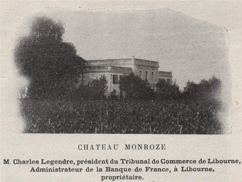 Associate Product FRONSADAIS. FRONSAC. Chateau Monroze. Legendre. Bordeaux. SMALL 1908 old print