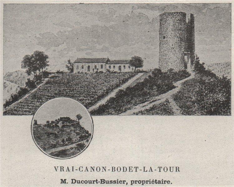 Associate Product FRONSADAIS. SAINT-MICHEL-DE-FRONSAC. Vrai-Canon-Bodet-la-Tour. SMALL 1908