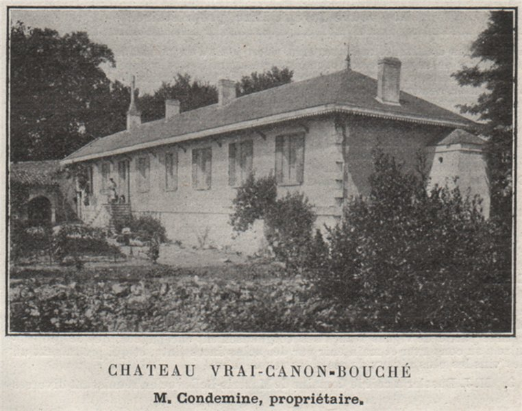 Associate Product FRONSADAIS. SAINT-MICHEL-DE-FRONSAC. Chateau Vrai-Canon-Bouché. SMALL 1908