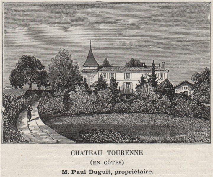 Associate Product FRONSADAIS. SAINT-GERMAIN-LA RIVIÈRE. Chateau Tourenne (En Côtes). SMALL 1908