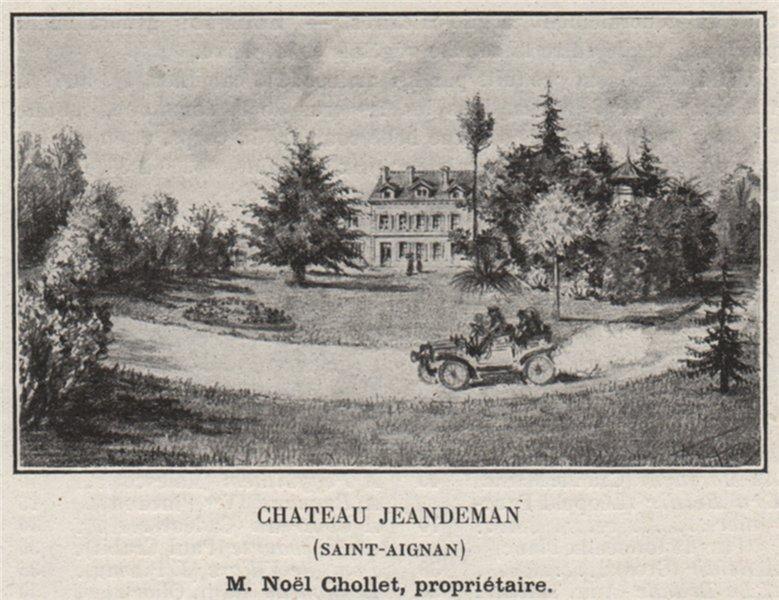 Associate Product FRONSADAIS. SAINT-AIGNAN, SAILLANS. Chateau Jeandeman (Saint-Aigman). SMALL 1908