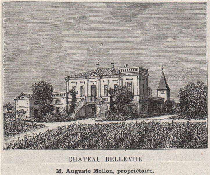 Associate Product FRONSADAIS. LUGON ET L'ILE-DU-CARNEY. Chateau Bellevue. Mellon. SMALL 1908