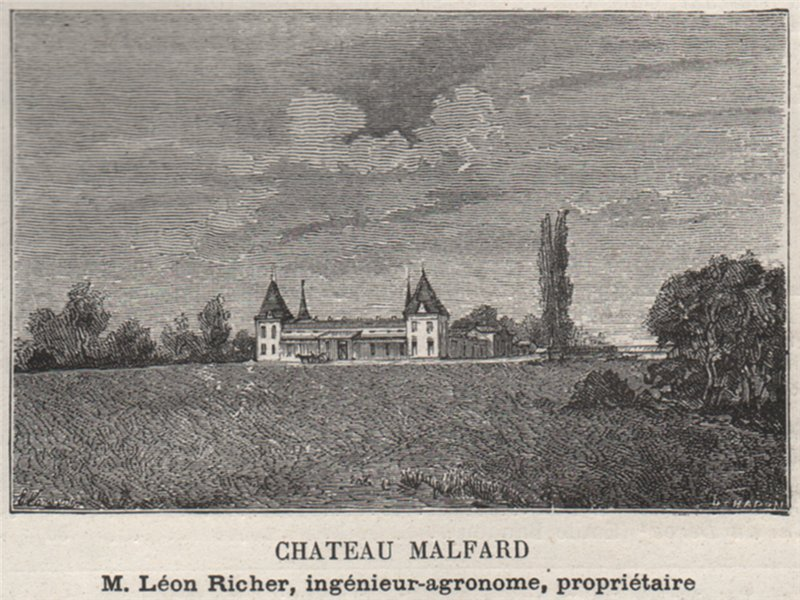 Associate Product GUITRES. SAVIGNAC-SUR-L'ISLE, ST-MARTIN-DE-LAYE. Chateau Malfard. SMALL 1908