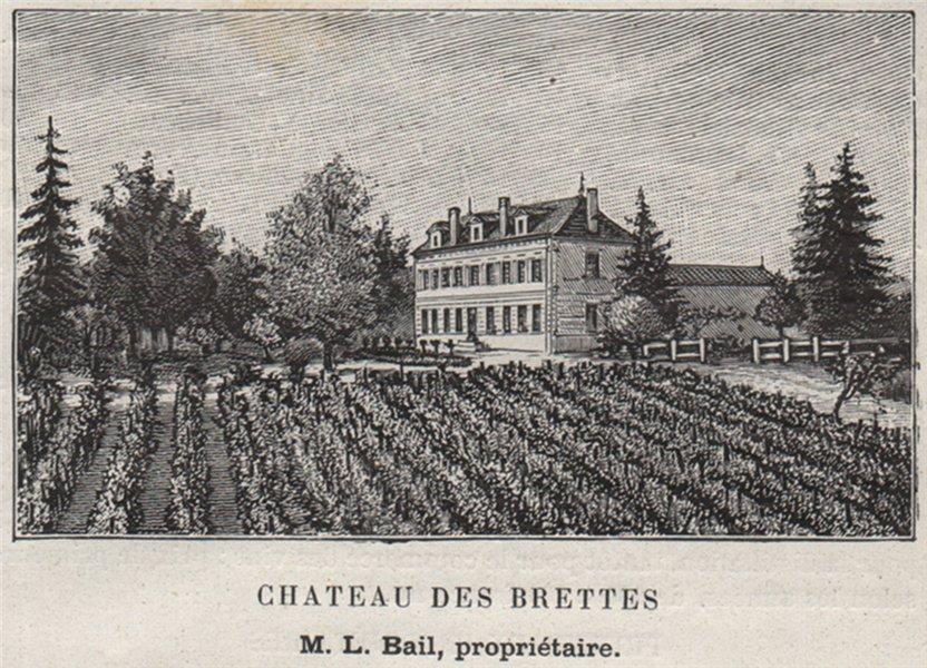 Associate Product CANTON DE GUITRES. GUITRES. Chateau des Brettes. Bail. Bordeaux. SMALL 1908