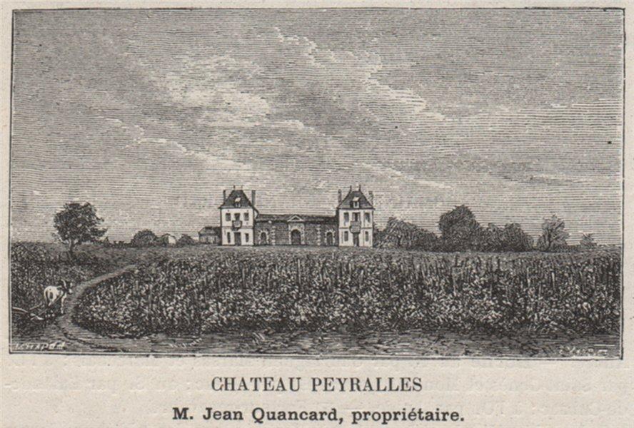 Associate Product CUBZADAIS. SALIGNAC. Chateau Peyralles. Quancard. Bordeaux. SMALL 1908 print