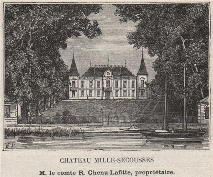 BOURGEAIS. BOURG. Chateau Mille-Secousses. Chenu-Lafitte. Bordeaux. SMALL 1908