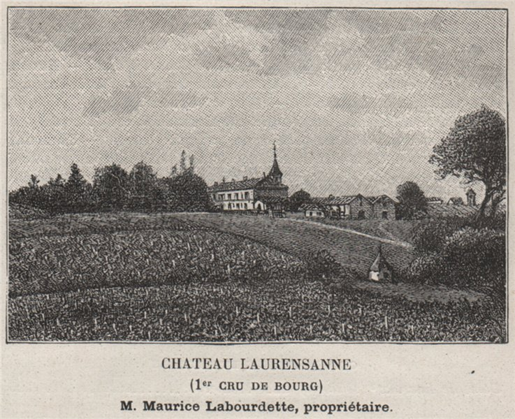 Associate Product BOURGEAIS SAINT-SEURIN-DE-BOURG Chateau Laurensanne 1er Cru de Bourg SMALL 1908